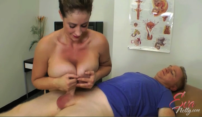 Bra Busting Nurse Eva Notty Gets Titty Fucked